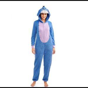 ❤️ 3/20 Disney Eeyore Pajama Onesie Size XL